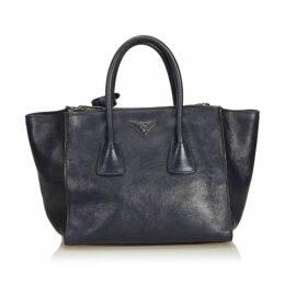 Prada Black Calf Leather Twin Pocket Handbag