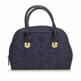 MCM Blue Nylon Visetos Handbag