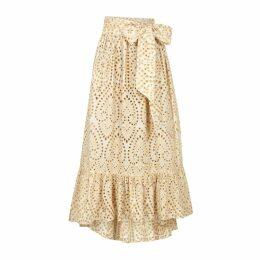 Lisa Marie Fernandez Nicole Eyelet-embroidered Cotton Skirt