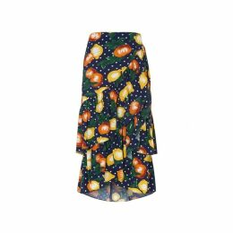 Kitri Petulia Fruit Print Wrap Skirt