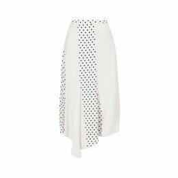 Jigsaw Mixed Spot Asymmetric Skirt