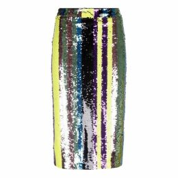 Traffic People Rainbow Ricochet Pencil Skirt In Multi