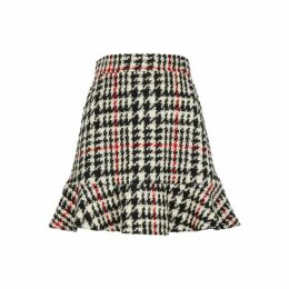 RED Valentino Houndstooth Wool-blend Bouclé Skirt