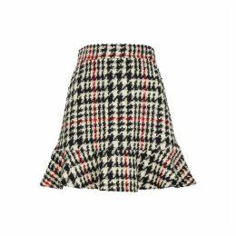 RED Valentino Houndstooth Wool-blend Bouclé Skirt