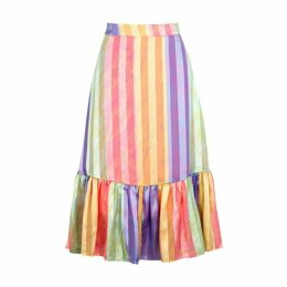 Stine Goya Leandra Striped Satin Skirt
