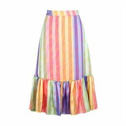 Stine Goya Leandra Striped Satin Skirt