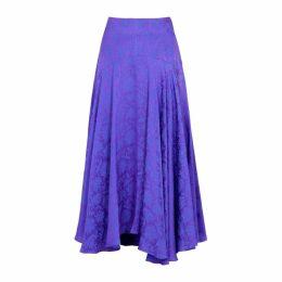 Chloé Floral-jacquard Satin Midi Skirt