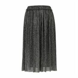 Isabel Marant Étoile Beatrice Silver Lamé Midi Skirt
