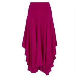 Stella McCartney Raspberry Draped Silk Skirt