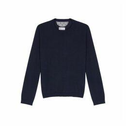 RED Valentino Navy Wool-blend Jumper