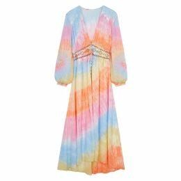Free People Summer Of Love Tie-dye Kimono