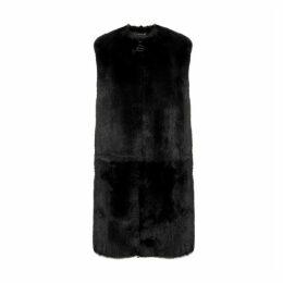 Givenchy Black Shearling Gilet