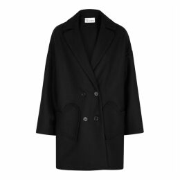 RED Valentino Black Wool-blend Coat