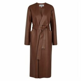 Loewe Brown Leather Coat