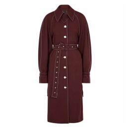Stine Goya Flo Burgundy Trench Coat