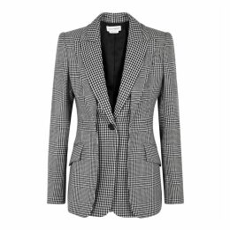 Alexander McQueen Layered Checked Wool Blazer