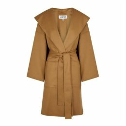 Loewe Camel Wool And Cashmere-blend Coat