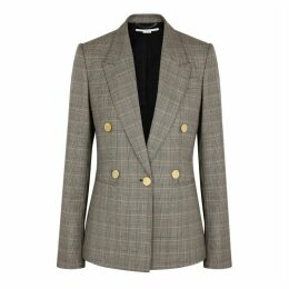 Stella McCartney Prince Of Wales Checked Wool Blazer