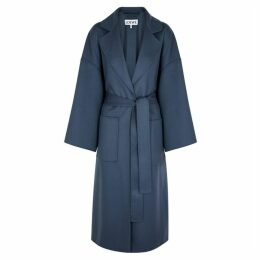 Loewe Blue Wool And Cashmere-blend Coat