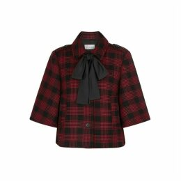 RED Valentino Checked Cotton-blend Jacket