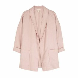 EILEEN FISHER Light Pink Linen Blazer