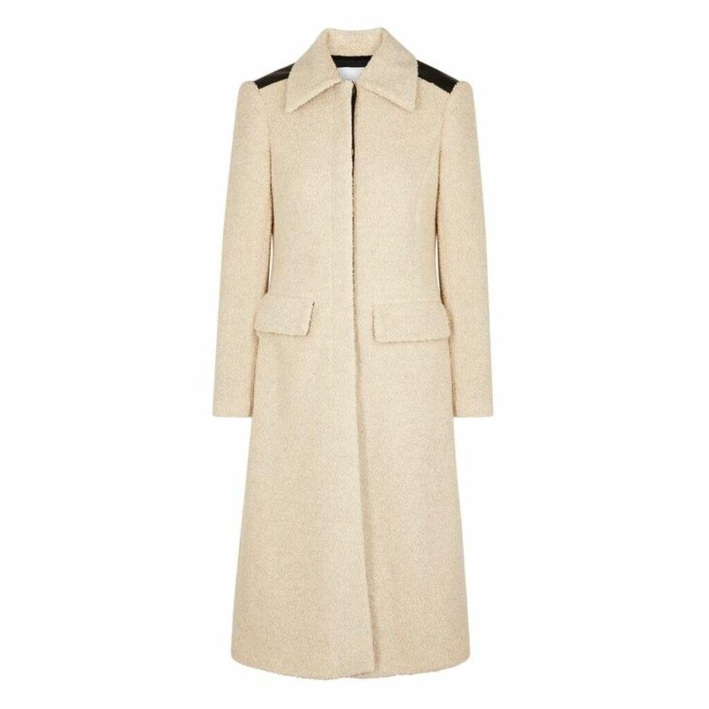 Rosetta Getty Oatmeal Wool-blend Bouclé Coat