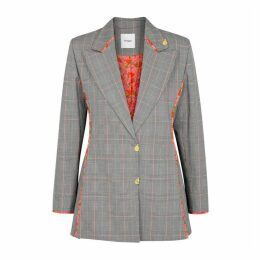 Brøgger Gelda Grey Checked Cotton Blazer