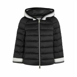 Herno Black Quilted Satin Jacket