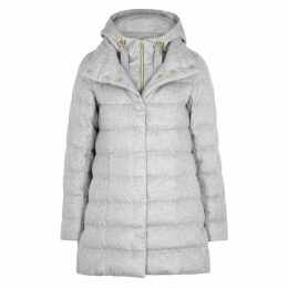 Herno Quilted Silk And Cashmere-blend Coat