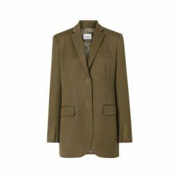 Burberry Press-stud Wool Twill Tailored Jacket