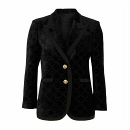 Gucci GG-embossed Velvet Blazer