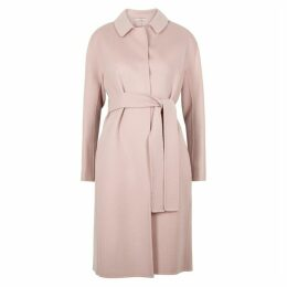 S Max Mara Doraci Light Pink Wool Coat