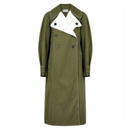 BY MALENE BIRGER Hazina Olive Cotton-twill Trench Coat