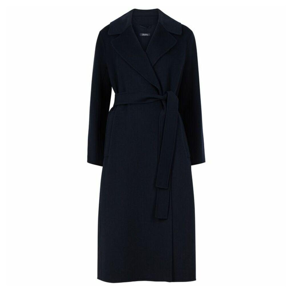'S Max Mara Vincent Navy Wool Coat