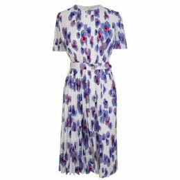 Boss Floral Pleated Dress