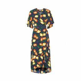 Kitri Freya Fruit Print Wrap Dress