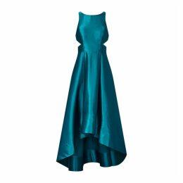 Aidan Mattox Liquid Satin High Low Dress