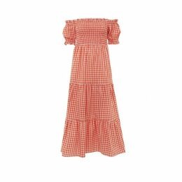 Kitri Alma Gingham Smocked Dress