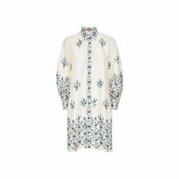 Varana Silk Trellis Print Long Dress