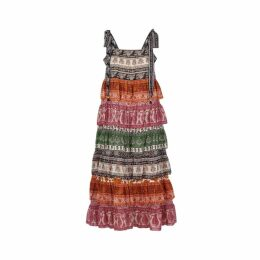 Zimmermann Amari Printed Georgette Midi Dress