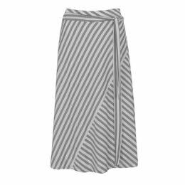 DKNY Asymmetrical Tie Skirt