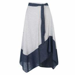DKNY Tie Midi Skirt