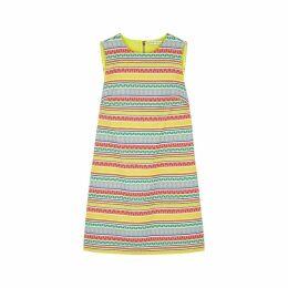 Alice + Olivia Coley Geometric Jacquard Mini Dress