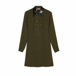 No.21 Polka-dot Ruffle-trimmed Dress