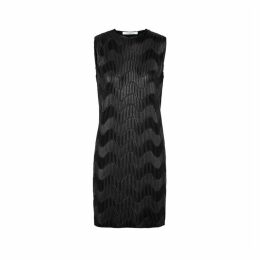 Givenchy Black Chevron Plissé Mini Dress