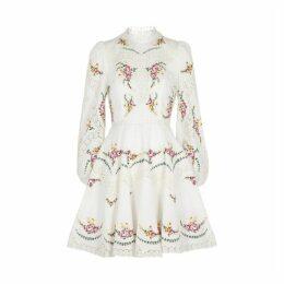 Zimmermann Allia Linen And Cotton-blend Mini Dress
