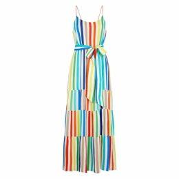 Alice + Olivia Janan Striped Crepe Dress