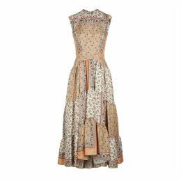 Chloé Printed Silk-twill Midi Dress