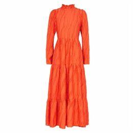 Stine Goya Judy Orange Devoré Maxi Dress