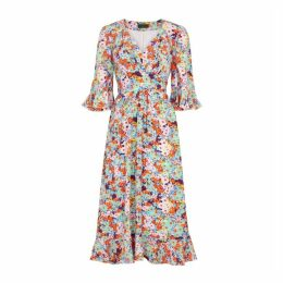 Stine Goya Evelyn Floral-print Silk Dress